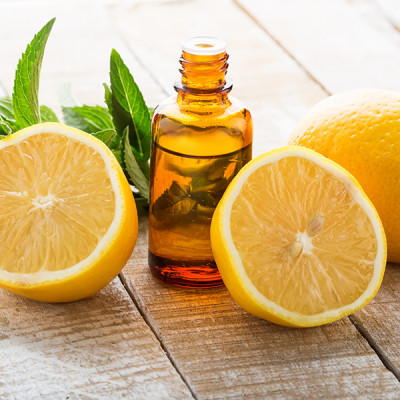 Lemon - Mint - Table - Bottle - Oil - Chamomile Therapies - Clinical Aromatherapy, Berkhamsted